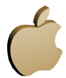 apple logo 3d png